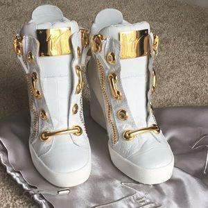 Giuseppe Zanotti Croc Wedge Sneakers 36.5